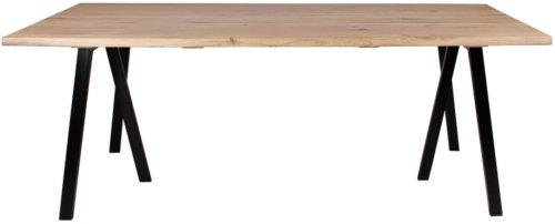 På billedet ser du variationen Plankebord, Curve wave, 3 feet base fra brandet Preform i en størrelse H: 74 cm. B: 95 cm. L: 180 cm. i farven Lys Natur/Sort