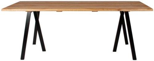 På billedet ser du variationen Plankebord, Curve wave, 3 feet base fra brandet Preform i en størrelse H: 74 cm. B: 95 cm. L: 180 cm. i farven Natur/Sort