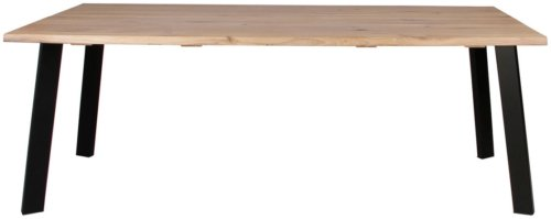 På billedet ser du variationen Plankebord, Curve wave, Slanting base fra brandet Preform i en størrelse H: 74 cm. B: 95 cm. L: 200 cm. i farven Lys Natur/Sort