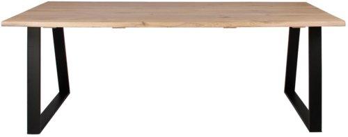På billedet ser du variationen Plankebord, Curve wave, Trapez base fra brandet Preform i en størrelse H: 74 cm. B: 95 cm. L: 180 cm. i farven Lys Natur/Sort