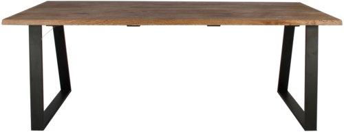 På billedet ser du variationen Plankebord, Curve wave, Trapez base fra brandet Preform i en størrelse H: 74 cm. B: 95 cm. L: 180 cm. i farven Mørk Natur/Sort