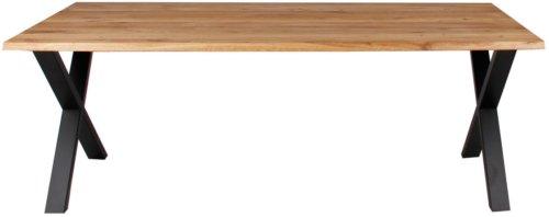 På billedet ser du variationen Plankebord, Curve wave, X base fra brandet Preform i en størrelse H: 74 cm. B: 95 cm. L: 180 cm. i farven Natur/Sort