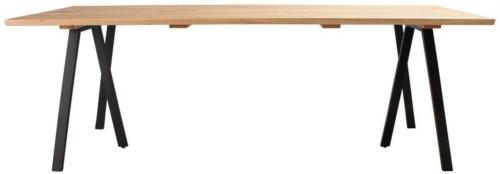 På billedet ser du Plankebord, Trend V, 3 feet base fra brandet Preform i en størrelse H: 74 cm. B: 95 cm. L: 220 cm. i farven Natur/Sort