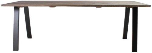 På billedet ser du variationen Plankebord, Trend V, Slanting base fra brandet Preform i en størrelse H: 74 cm. B: 95 cm. L: 220 cm. i farven Mørk Natur/Sort