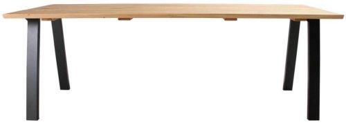 På billedet ser du variationen Plankebord, Trend V, Slanting base fra brandet Preform i en størrelse H: 74 cm. B: 95 cm. L: 220 cm. i farven Natur/Sort