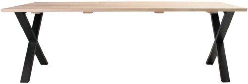 På billedet ser du variationen Plankebord, Trend V, X base fra brandet Preform i en størrelse H: 74 cm. B: 95 cm. L: 220 cm. i farven Lys Natur/Sort