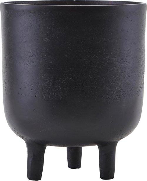 På billedet ser du variationen Potte, Jang oxideret fra brandet House Doctor i en størrelse D: 15 cm. H: 18 cm. i farven Sort