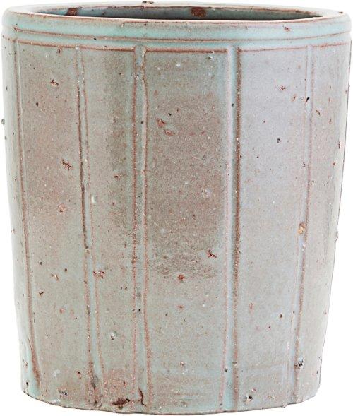 På billedet ser du variationen Potte, Julian fra brandet House Doctor i en størrelse D: 18 cm. H: 20 cm. i farven Grå/Grøn