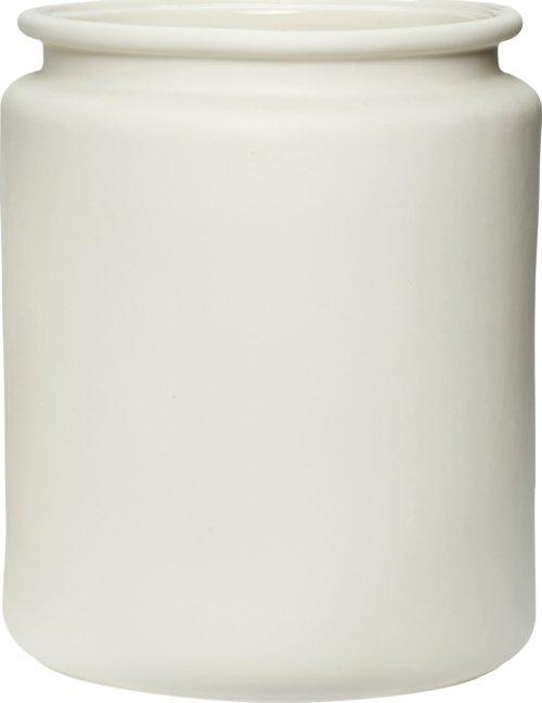 På billedet ser du variationen Potte, Ammon fra brandet Hübsch i en størrelse Ø: 20 cm. H: 25 cm. i farven Hvid