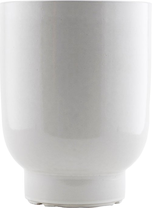 På billedet ser du variationen Potte, Unison fra brandet House Doctor i en størrelse D: 20 cm. H: 26 cm. i farven Hvid