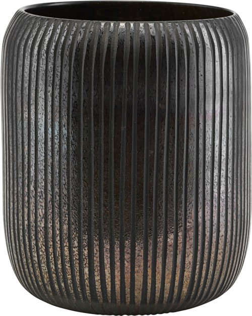 På billedet ser du variationen Potte, Utla fra brandet House Doctor i en størrelse D: 19,2 cm. H: 17,4 cm. i farven Brun/Sort