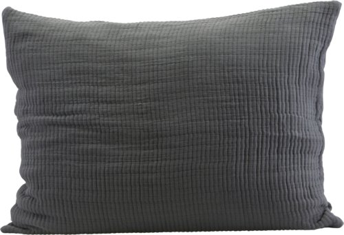 På billedet ser du variationen Pudebetræk, Lia fra brandet House Doctor i en størrelse B: 60 cm. L: 80 cm. i farven Mørkegrå