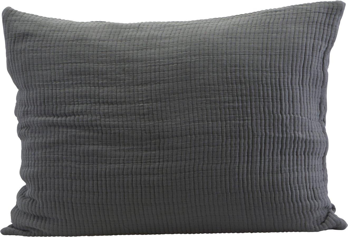 Image of   Pudebetræk, Lia by House Doctor (B: 60 cm. L: 80 cm., Mørkegrå)