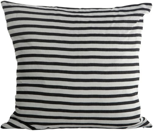 På billedet ser du variationen Stripe, Pudebetræk fra brandet House Doctor i en størrelse 50 x 50 cm. i farven Sort/Grå