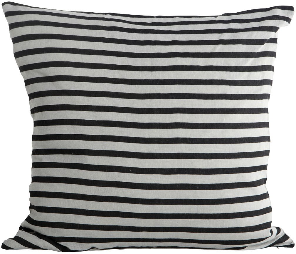 Image of   Stripe, Pudebetræk by House Doctor (50 x 50 cm., Sort/Grå)