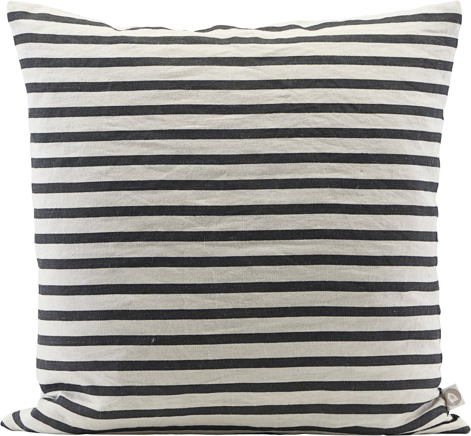 Image of   Pudebetræk, Stripe by House Doctor (H: 60 cm. L: 60 cm., Sort/Grå)