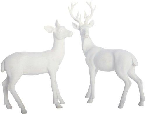 På billedet ser du variationen Rådyr, Stående fra brandet House Doctor i en størrelse L: 14 cm. x B: 4 cm. x H: 17 cm. i farven Hvid