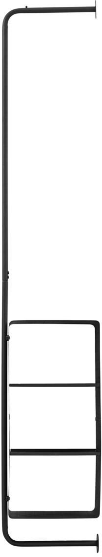 På billedet ser du variationen Ways, Rack, m. 4 hylder fra brandet House Doctor i en størrelse Shelf: 32 x 30 H: 60 cm. Rack: 30 x 175 cm. i farven Sort
