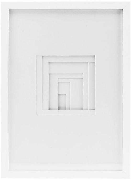 På billedet ser du variationen Shapes, Relief, Square fra brandet House Doctor i en størrelse 29.7 x 42 cm. i farven Hvid