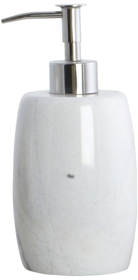På billedet ser du variationen Marble, Sæbedispenser fra brandet House Doctor i en størrelse D: 8,4 cm. x H: 17,5 cm. i farven Hvid