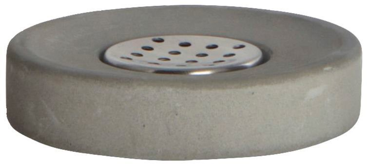 Image of   Cement, Sæbeholder by House Doctor (H: 2,5 cm. x D: 11 cm., Grå)