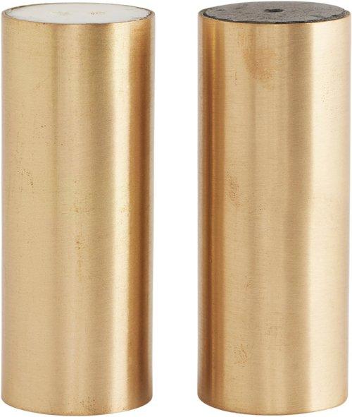 På billedet ser du variationen Salt og peber, SP fra brandet House Doctor i en størrelse D: 3 cm. x H: 8 cm. i farven Messing