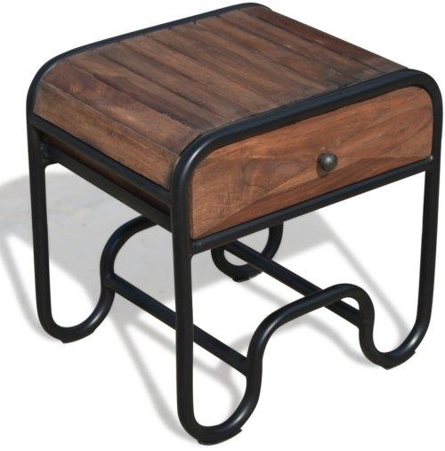 På billedet ser du variationen Sengebord i rosentræ, Christiania Dark fra brandet OBUZI i en størrelse H: 50 cm. B: 50 cm. L: 40 cm. i farven Mørk Natur/Sort