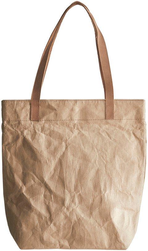 På billedet ser du variationen Shopping taske, Craft fra brandet House Doctor i en størrelse 26 x 10 cm. x H: 37 cm. i farven Brun
