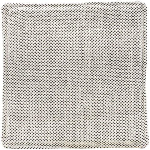På billedet ser du variationen Siddehynde, Cuun, Firkantet fra brandet House Doctor i en størrelse B: 35 cm. L: 35 cm. i farven Sort/Hvid