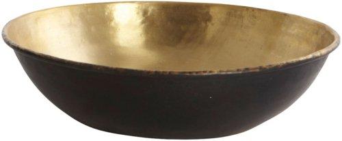 På billedet ser du variationen Lux, Skål fra brandet House Doctor i en størrelse D: 20 cm. x H: 4 cm. i farven Messing/Sort