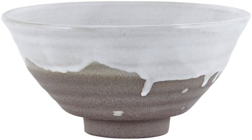På billedet ser du variationen Running Glaze, Skål fra brandet House Doctor i en størrelse D: 18 cm. x H: 9 cm. i farven Hvid/Grå
