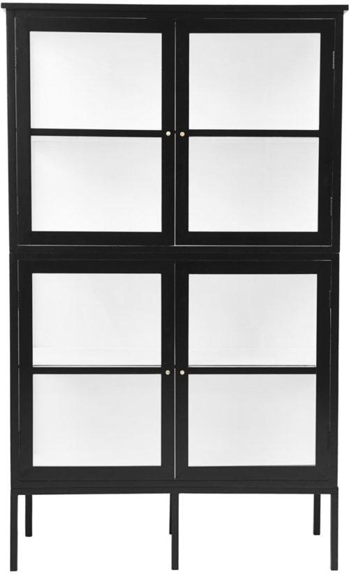 På billedet ser du variationen Skab, 4 døre, Fox fra brandet House Doctor i en størrelse 45 x 120 cm. x H: 200 cm. i farven Sort