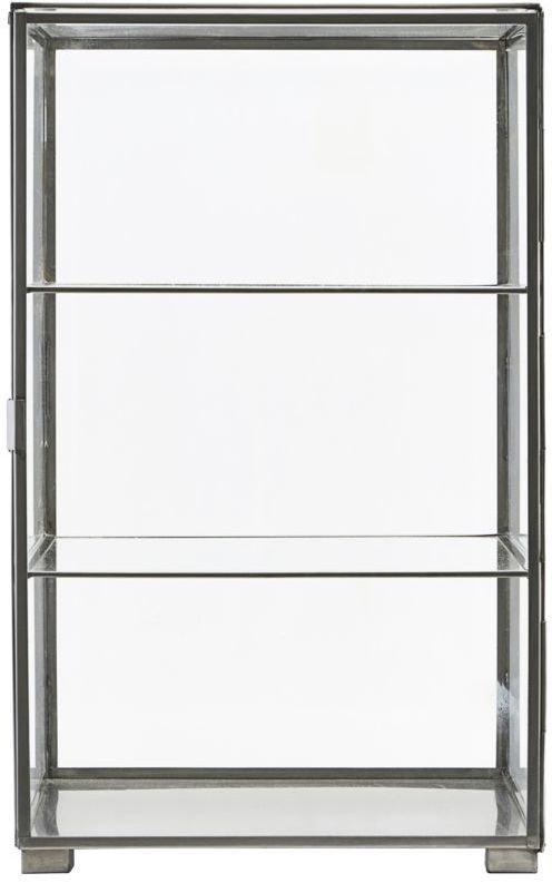 På billedet ser du variationen Skab, Glass fra brandet House Doctor i en størrelse 35 x 35 cm. x H: 56.6 cm. i farven Stål