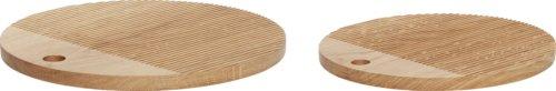 På billedet ser du variationen Skærebræt, Tuulikki fra brandet Hübsch i en størrelse Sæt á 2 stk. i farven Natur