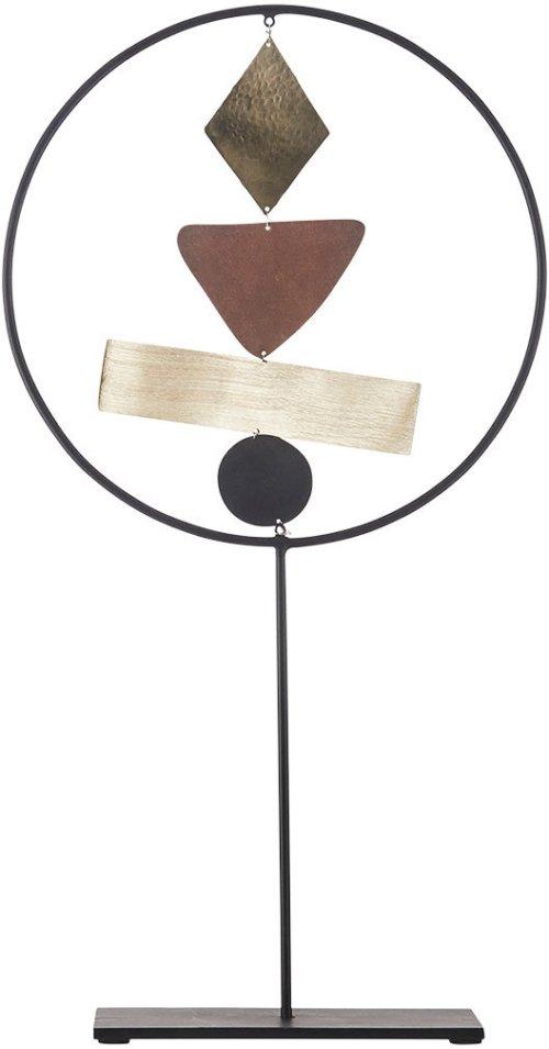 På billedet ser du variationen Skulptur, Art no. 1 fra brandet House Doctor i en størrelse 25,5 x 7,6 cm. x H: 47 cm. i farven Sort