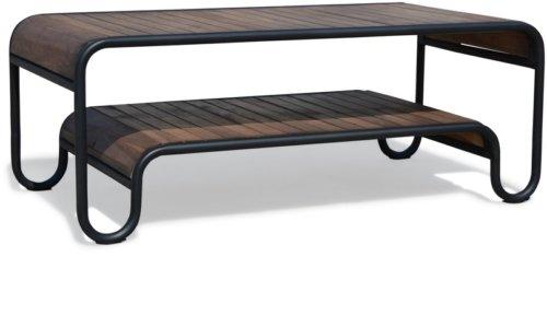 På billedet ser du variationen Sofabord, Christiania Dark fra brandet OBUZI i en størrelse H: 45 cm. B: 120 cm. L: 60 cm. i farven Mørk Natur/Sort