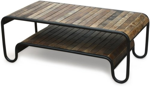 På billedet ser du variationen Sofabord, Christiania Raw fra brandet OBUZI i en størrelse H: 45 cm. B: 120 cm. L: 60 cm. i farven Mørk Natur/Sort