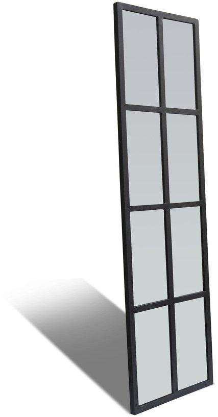 På billedet ser du Spejl, Factoria fra brandet OBUZI i en størrelse H: 160 cm. B: 45 cm. L: 2,5 cm. i farven Sort