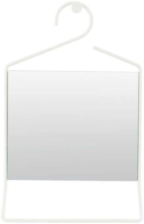 På billedet ser du variationen Hang, Spejl fra brandet House Doctor i en størrelse 32 x 7 cm. x H: 50 cm. i farven Hvid