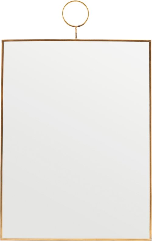 På billedet ser du variationen Spejl, Loop, Messing fra brandet House Doctor i en størrelse H: 40 cm. B: 30 cm. i farven Messing
