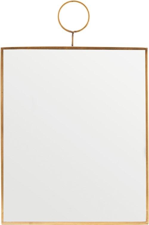 På billedet ser du variationen Spejl, Loop, Messing fra brandet House Doctor i en størrelse H: 30 cm. B: 25 cm. i farven Messing