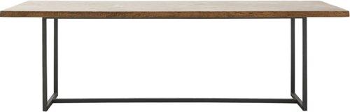 På billedet ser du variationen Spisebord, Kant fra brandet House Doctor i en størrelse H: 74 cm. B: 90 cm. L: 240 cm. i farven Mørkebrun/Sort