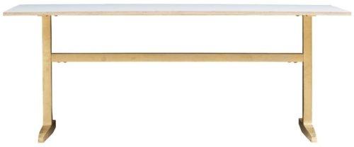 På billedet ser du variationen Spisebord, Messingbelagt/Grå fra brandet House Doctor i en størrelse H: 74 cm. B: 80 cm. L: 200 cm. i farven Messing