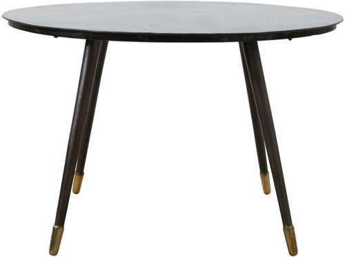 På billedet ser du variationen Raw, Spisebord fra brandet House Doctor i en størrelse D: 120 cm. x H: 76 cm. i farven Sort