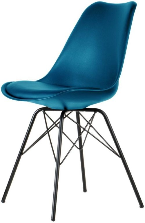 På billedet ser du variationen Spisebordsstol, Comfort fra brandet Preform i en størrelse H: 84 cm. B: 47 cm. L: 49 cm. i farven Sort/Petroleum