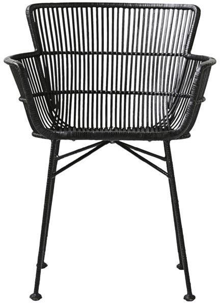 På billedet ser du Coon, Spisebordsstol fra brandet House Doctor i en størrelse 62 x 60.5 cm. x H: 80 cm. i farven Sort