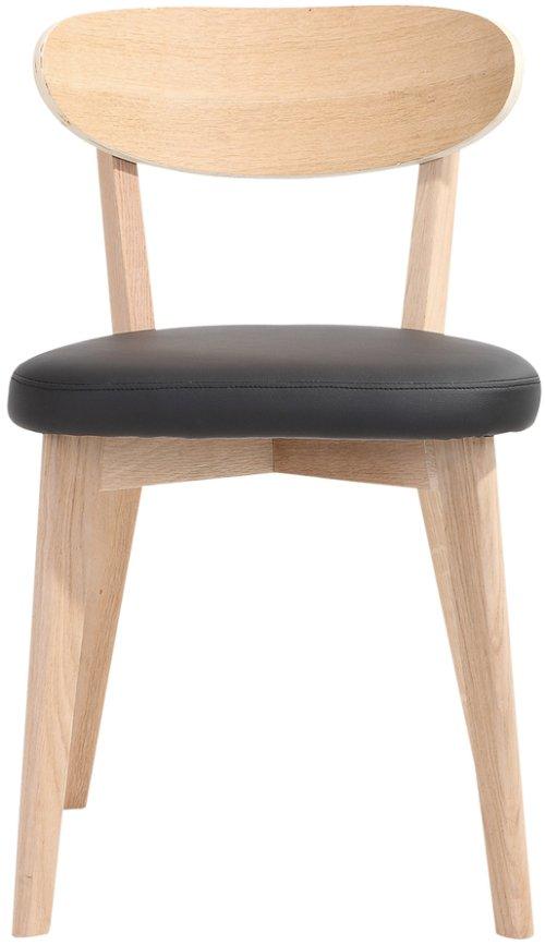 På billedet ser du variationen Spisebordsstol, Lucy fra brandet Preform i en størrelse H: 80 cm. B: 46 cm. L: 43 cm. i farven Natur/Sort