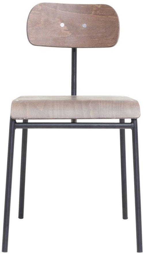 På billedet ser du variationen Spisebordstol, School fra brandet House Doctor i en størrelse B: 41 cm. L: 41,5 cm. i farven Mørkebrun