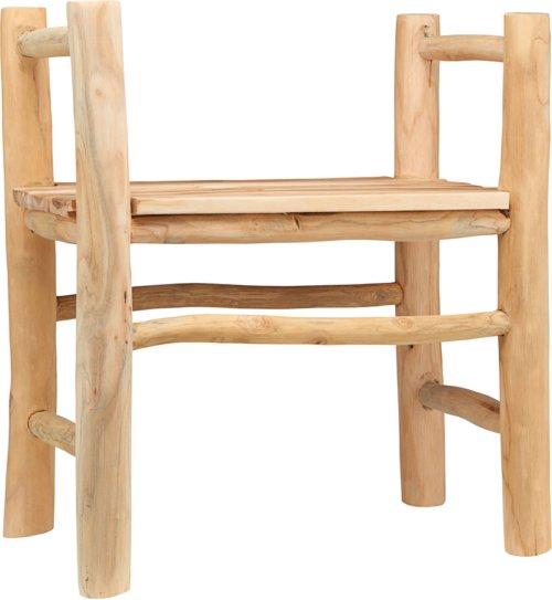 På billedet ser du variationen Spisebordstol, Teaky fra brandet House Doctor i en størrelse H: 66 cm. B: 33 cm. L: 60 cm. i farven Natur