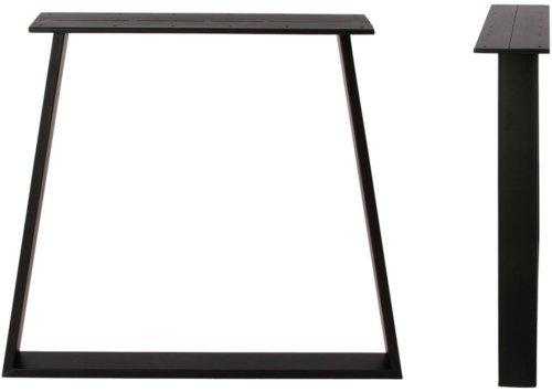 På billedet ser du variationen Stel til plankeborde, Trapez base fra brandet Preform i en størrelse H: 71 cm. B: 78 cm. L: 15 cm. i farven Sort